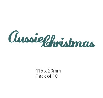 Aussie Christmas 115 x 23mm pack 10